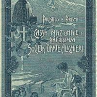 Poster Stamp - Cassa nazionale di previdenza per la invalidità e la vecchiaia degli operai and Società Dante Alighieri