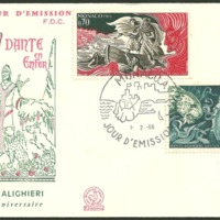 First Day Cover - Monaco - 1966 - Gustave Doré and Unknown Designer