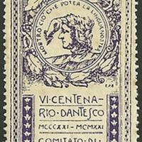 Poster Stamp - Società Dante Alighieri, Comitato di Montevideo