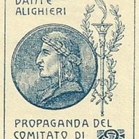 Cinderella Stamp - Società Dante Alighieri, Comitato di Santiago-Cile