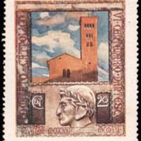 Cinderella Stamp - Comitato cattolico per l'omaggio a Dante Alighieri
