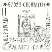 Cancellation - Italy (Cecina) - 1981 February 21
